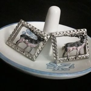 Other - Men's Vintage Antelope Cuff Links